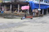 An unsual ride at Selling in Mizoram