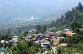 Naggar with Kullu Valley in back ground