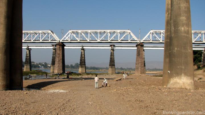 Bridge on the river Narmada near Hoshangabad Madhya Pradesh