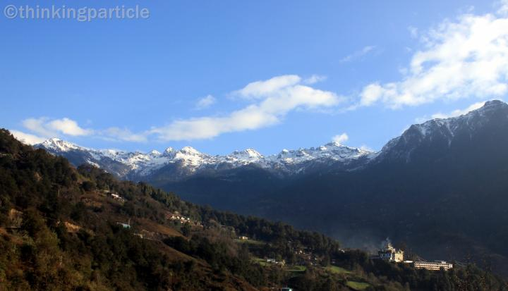 Snow-topped mountains of tawang valley